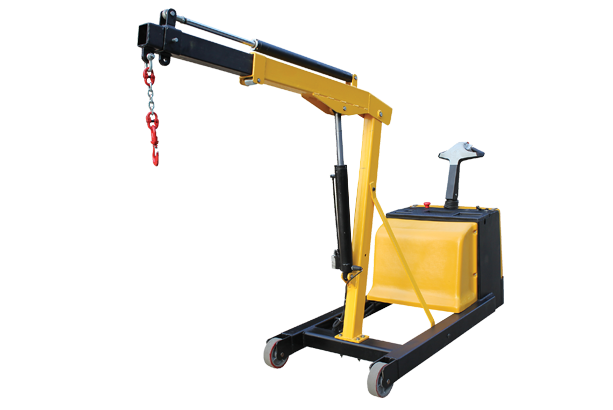 Electric floor cranes