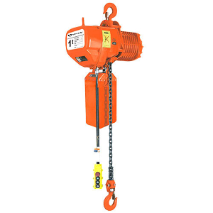 Single & Dual Voltage Electric Chain Block Trolley Hoist with Motorized, Plain or Geared Trolley