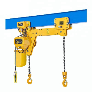 High Working Grade 2 Ton Hook Suspension Double Brake Electric Clutch Chain hoist Fix Type