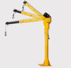 0.5T portable Mini Hydraulic DC 12v/24v electric pick up truck mounted jib crane Davit crane