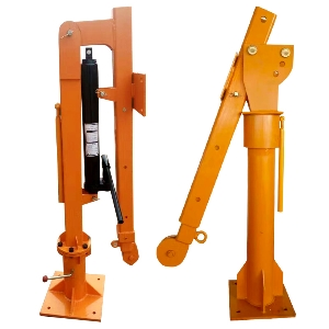10t Foldable Steel Manual Davit Arm Crane, Lift Swivel Vehicle Crane, Hydraulic Crane
