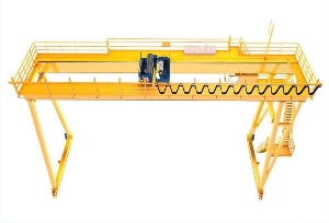 50 Ton Container Road and Bridge Double Girder Overhead Gantry Crane with Trolley and Hoist