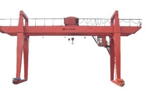 Remote Control 15t 10t 5t Double Girder Beam Gantry Crane with Grab, Wheeled Crane