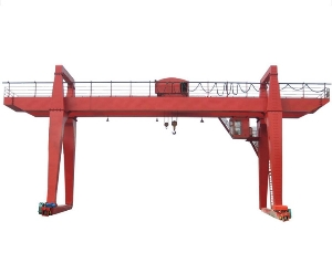 Workshop Double Girder Beam Goliath Trolley Hook Gantry Crane 20 Ton with Remote Control