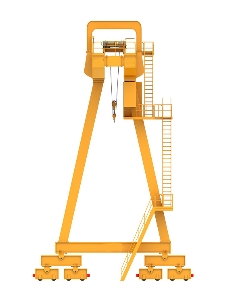 Widely Used in Factory Workshop Warehouse Rail Mounted Mobile Single Girder Gantry Crane 10t