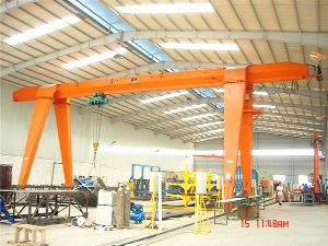 Long Traveling Single Girder Beam Electric Gantry Crane 10ton with Hoist, Goliath Crane