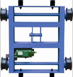 High Performance European Top Running Double Girder Trolley Wire Rope Electric Hoist Trolley Double Drive