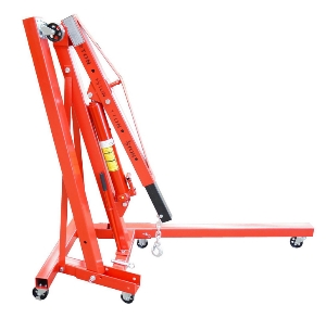 3t Portable Adjustable Style Mini Hydraulic Moveable Folding Telescopic Floor Crane, Floor Hoist