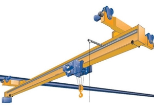 Economy 10 Ton Electric Single Girder Eot Overhead Crane, Top Running Bridge Crane with Hoist