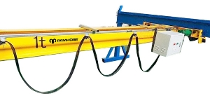 Mini Light Duty 500kg 1 Ton Workshop Electric Single Girder Overhead Crane Free Standing Bridge Crane