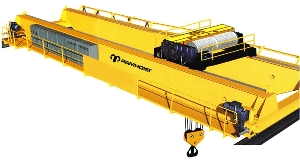 Double Girder 16 Ton Electric Overhead Travelling Bridge Crane Used Grab Bucket for Metal Lifting
