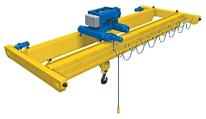 Lh Type Electric Hoist Double Girder Beam 20ton Overhead Grabbing Crane Eot Crane for Workshop