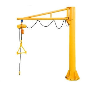 Wire Rope or Chain Lifting Traveling Cantilever Mounting Structural Beam Motor Rotation Arm Lift Jib Wall Crane, Wall Bracket Jib Crane