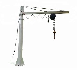 Customized 360 Degree Foundation Mounted Free Standing Portable Articulating Swivel Jib Crane with Hoist