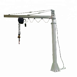 360 Degree Swivel Small Hoist Pillar/Column Mounted Cantilever Swing Arm Slewing Pedestal Boom Single Jib Crane