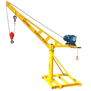 Portable Small Lift Electric 400 500 300 200 100kg Single Double Rope Construction Mini Crane with Mini Hoist for Lifting Materials