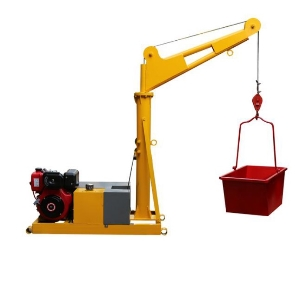 220V Home Construction Use 300kg 400kg 500kg 800kg Outdoor Mini Portable Roof Material Lifting Crane