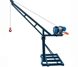 Attractive and Durable Outdoor Construction Mini Portable Crane, 500kg Arm Rotating Lifting Crane with Standard Height 30m