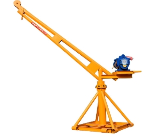 Different Capacity 360 Degree Rotating 800kg Shaft Construction Electric Mini Hoist Small Lift Davit Crane