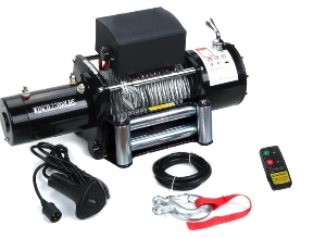 12V 15500lb 4WD 4X4 Electric Steel Cable Wire Recovery Winch