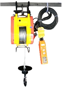 250kg 1200W AC220V-240V Suspending Electric Mini Wire Rope Winch Hoist