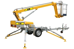 8m Trailer Articulated Boom Lift/Portable Man Lifts for Sale