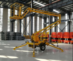Tow Behind Towable Articulated Boom Man Lift for High Space Working