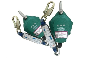 Fall Arrest Double Hooks Safety Lanyard with Shock Absorber