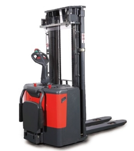 Power Drive Full Electric Walk Behind Forklift Pallet Stacker 3.5 M Height