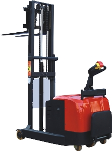Fully Electric Pallet Walkie Straddle Stacker with High Quality