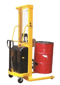 180 Degree Rotating Electric Drum Lifting Stacker 500kg Capacity
