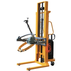 Hydraulic Battery Electric Drum Lifting Stacker with Manual Tilting