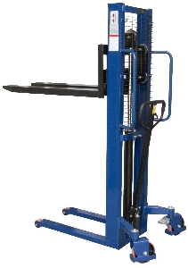 500kg Small Hand Operated Straddle Hydraulic Lifting Pallet Stacker