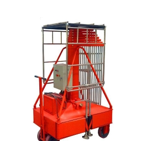 6m Single Staircase Series Telescopic Steel Mast Lift Supply mobile hydraulic lift - type cylinder with single ladder