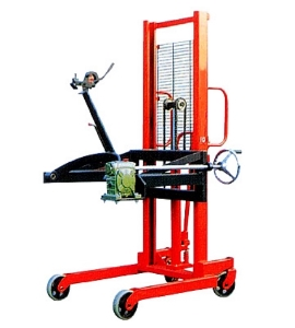 Hot sale hand-operated oil drum lifter manual hydraulic manual hand lift oil drum stacker