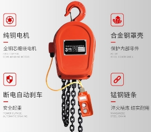 Low price DHS type 110 volt electric chain hoist with 12 months warranty