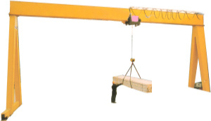 Different Capacities of Single Girder Gantry Cranes made in china