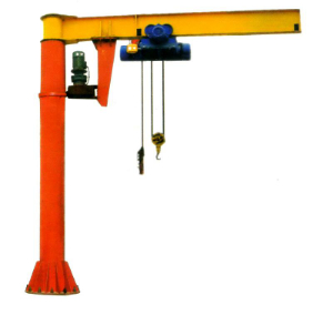 Technical drawing for jib crane with electrical hoist 8m arm and 8m high