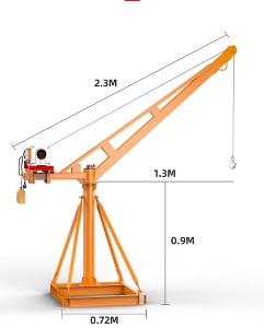 Mini Crane for Construction and Decoration Purpose 300kg/400kg/500kg