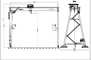 Specifications of Gantry Crane 100T-S45m, H35m