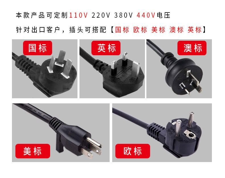 different plugs for Automatic Pallet Wrapping Machine.jpg