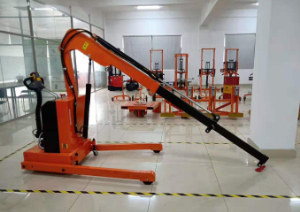 Site photos of 1t Fully Electric Floor Crane  (Foldable Shop Crane)--RME01