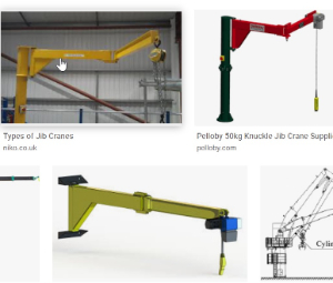 Knuckle jib crane with knuckle boom jib for Canada (150kg, 6m jib bend in the middle, 3m lifting height)