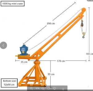 Inquiry for small crane 500kg