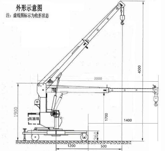 0.5T移动式电动旋转吊车(外接电源款式)----Drawing of 0.5T Mobile revolving floor crane with External power supply.jpg