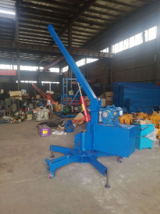 Offer for 0.5T Mobile revolving floor crane with External power supply